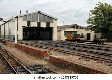 Hythe,East Sussex/UK 8/1/16 Romney, Hythe and Dymchurch miniature railway. Railway sheds