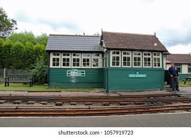 Hythe,East Sussex/UK 8/1/16 Romney, Hythe and Dymchurch miniature railway. New Romney signal box