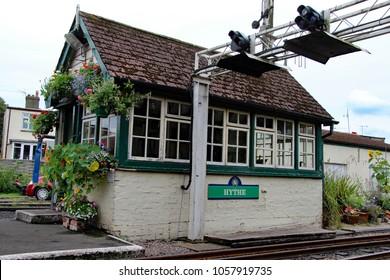 Hythe,East Sussex/UK 8/1/16 Romney, Hythe and Dymchurch miniature railway, Hyth signal box
