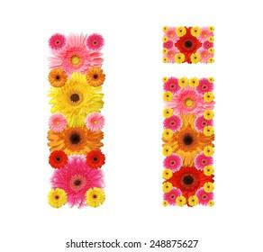 i, flower alphabet