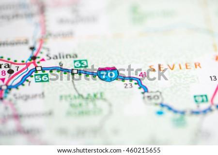 I 70 Utah USA Stock Photo (Edit Now) 460215655 - Shutterstock I Map Usa on map indiana usa, map denver usa, map portland usa, map nashville usa, map colorado usa, map i-65 usa, map texas usa,