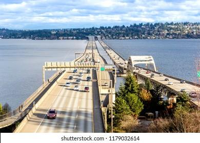 I-90 floating bridge, Washington-USA