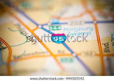I95 Map Florida.I 95 Jacksonville Florida Usa Stock Photo Edit Now 444503542