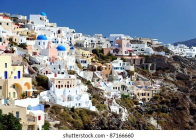 Ia cityscape, Santorini, Greece