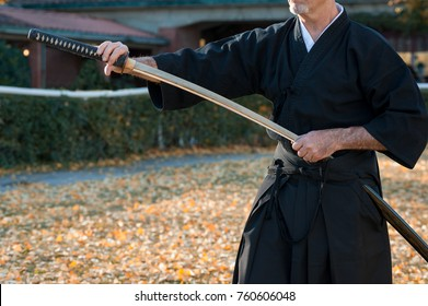 Iaido is a Japanese martial art that emphasizes being aware and capable of quickly drawing the sword and responding to a sudden attack