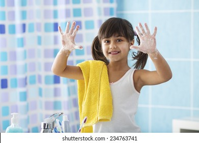 I'am Cleaning My hands with Soap...
