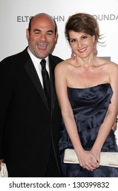 Ian Gomez, Nia Vardalos at the Elton John Aids Foundation 21st Academy Awards Viewing Party, West Hollywood Park, West Hollywood, CA 02-24-13