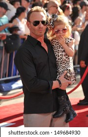 Ian Ziering & daughter at the world premiere of Disney's Planes at the El Capitan Theatre, Hollywood. August 5, 2013  Los Angeles, CA