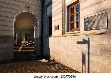 Iasi, Romania – 16 january 2019. The Iasi Philharmonic - or the Notre Dame de Zion Institute Building. Romania.