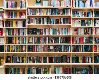 IASI, ROMANIA - MAY 05, 2019: Wide Variety Of Books For Sale In Library Book Store