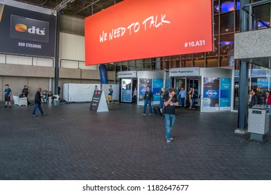 The IBC Exhibition covers fifteen halls across the RAI and hosts over 1,700 exhibitors spanning the media, entertainment and technology industry at Amsterdam The Netherlands 2018