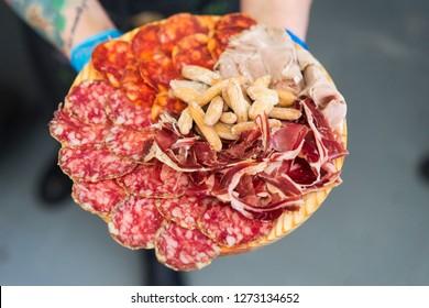 Iberian products tray