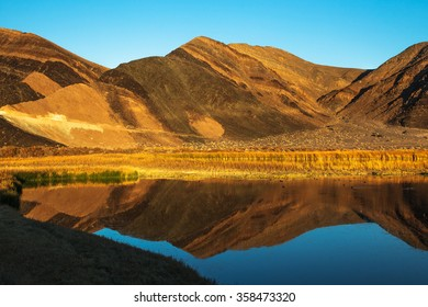 Ibex Hills Reflection Saratoga Spring Death Valley National Park California