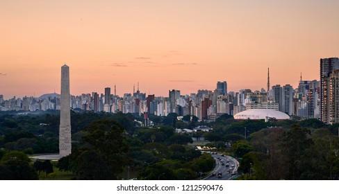 Ibirapuera Park Sao Paulo Skyline - Brazil