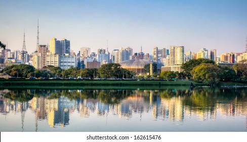 Ibirapuera Park Skyline - Sao Paulo - Brazil