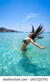 Ibiza Cala Tarida beach in Sant Josep of Balearic Islands