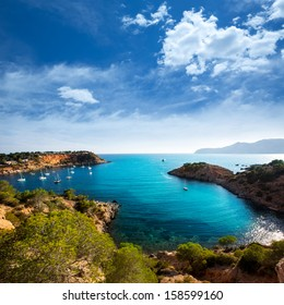 Ibiza Es Porroig also Port Roig view at Balearic Islands of Spain