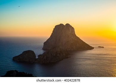 Ibiza Es Vedra and Vedranell Sunset from Torre des Savinar Sant Josep in Balearic Islands