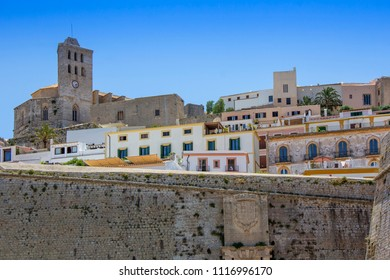 Ibiza old town, called Dalt Vila. IBIZA is one of the Balearic islands that are located in the Mediterranean Sea