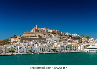 Ibiza skyline on a beautiful summer day.