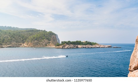 Ibiza, Spain. Area of the Port of San Miguel, in the north of the island of Ibiza
