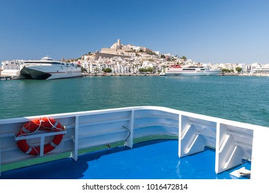 IBIZA, SPAIN - JUNE 30, 2007: Beautiful view of old town of Eivissa - the capital of Ibiza, Spain.