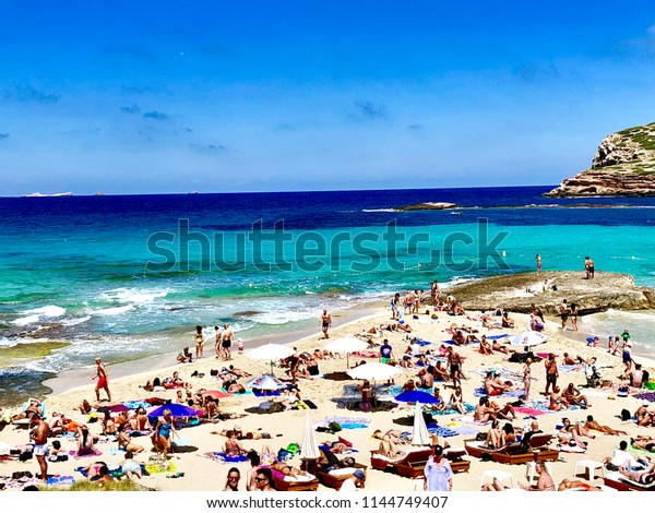 Ibiza Spain June 7 2018 Crowded Stock Photo (Edit Now