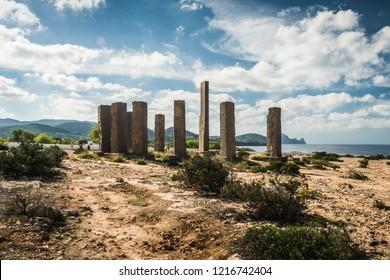 Ibizia Stonehenge. The world's biggest sun clock