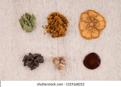 Iboga root bark, syrian rue, ayahuasca, banisteriopsis caapi, hawaiian baby woodrose, salvia divinorum and morning glory seeds. Alternative psychedelic medicine.