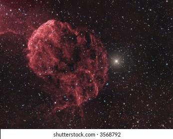 IC 443 Supernova remnant in Gemini