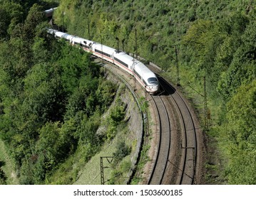 """ICE 3 Train of the """"Geislinger mountain"""" Germany"""
