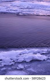 Ice along the Kishwaukee River in northern Illinois