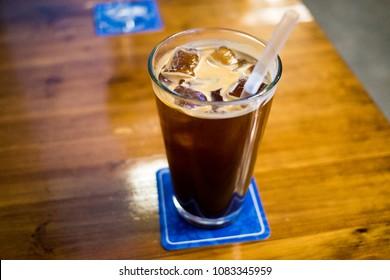 Ice americano coffe