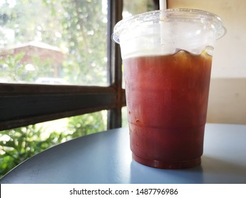 ice americano coffee in the coffee shop