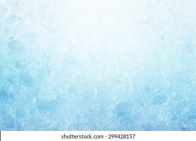 ice background, frozen water, blue