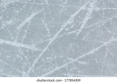 ice background with marks from skating and hockey