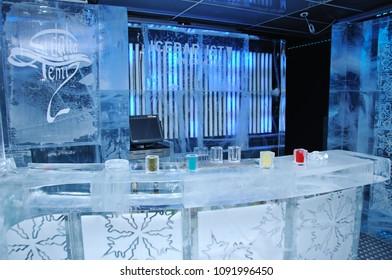 ice bar Istanbul in Maslak, istanbul, Turkey, August 10 2017