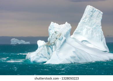 ice bergs in antarctic waters near an island of South Georgia