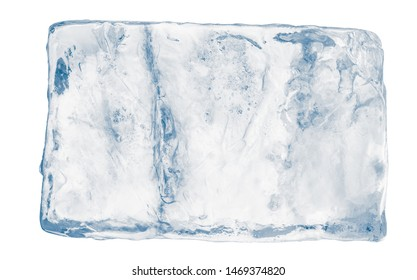 Ice block, isolated on white background.