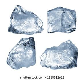 ice blocks isolated on white background