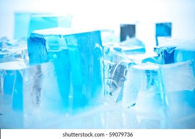 Ice blue  cubes