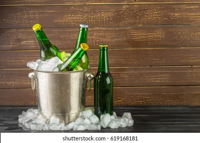 Ice bucket with beer