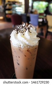 Ice cafe mocha coffee. A caffe mocha, also called mocaccino, is a chocolate flavored variant of a caffe latte. Other commonly used spellings are mochaccino and also mochachino.