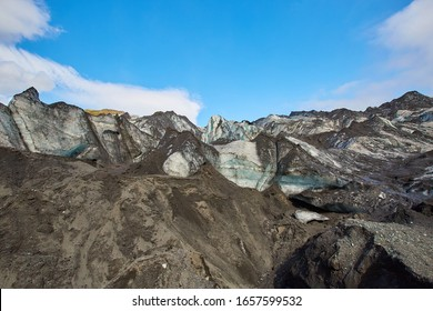 Mýrdalsjökull is an ice cap in the south of Iceland. It's to the north of Vík í Mýrdal and to the east of the smaller ice cap Eyjafjallajökull. The icecap of the glacier covers an active volcano Katla