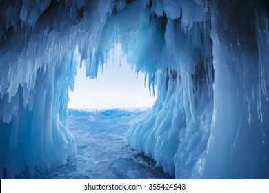 Ice Cave, Lake Baikal, Russia
