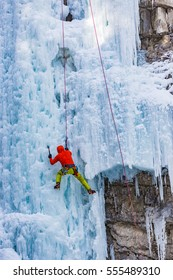 Ice climbing in the Canadian Rockies