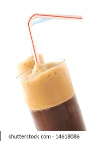 ice coffee (frappe) in white background