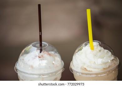 Ice coffee grass