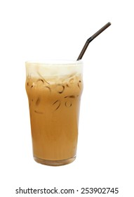 Ice coffee isolate on white background.