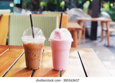 ice coffee and milk shake